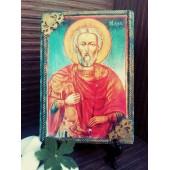 """Ръчно изработена икона """"Свети Мина"""""""