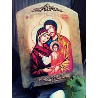 """Ръчно изработена икона """"Свето семейство"""""""