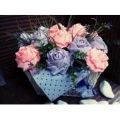 Кошница с рози 15