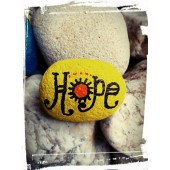 Ръчно рисуван камък HOPE